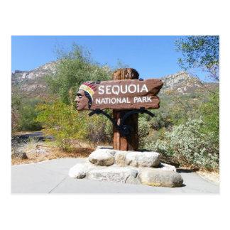 Briefkaart van het Park van de sequoia het