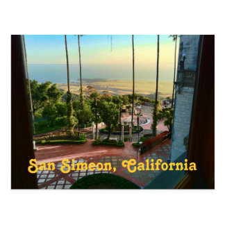 Briefkaart van het Uitzicht van San Simeon het