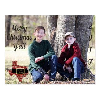 Briefkaart van Kerstmis van de Foto van de Staat