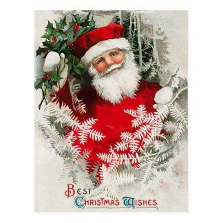 Briefkaart van Kerstmis van de Kerstman het