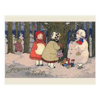 """Briefkaart van Kerstmis van """"Joyeux Noel"""" het"""