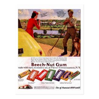 Briefkaart-vintage Gom Briefkaart