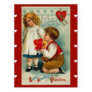 Briefkaart-vintage Valentijn voor uw liefje Briefkaart