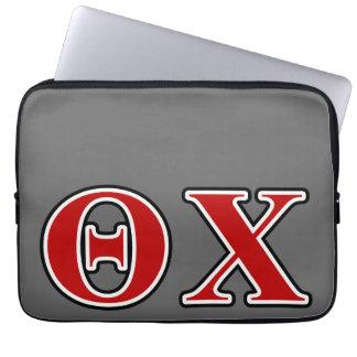 Brieven van de Chi van de theta de Rode en Zwarte Laptop Sleeve