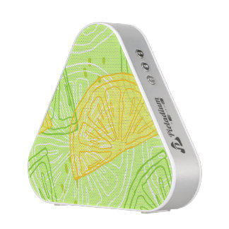 Bright lime green citrus lemons pattern