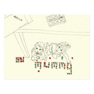 Brij in de kunstbriefkaart van het bakstenen briefkaart