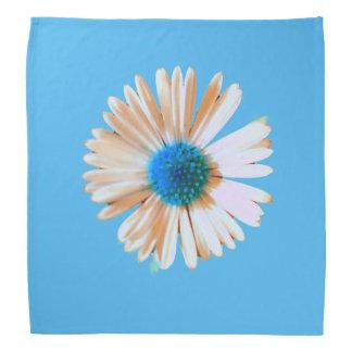 Briljant blauw en margriet bandana