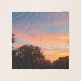briljante gekleurde Oct van de Zonsondergang hemel Sjaal