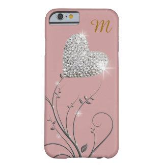 briljante hart-bloem barely there iPhone 6 hoesje