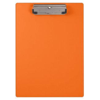 Briljante slechts oranje eenvoudige stevige kleur klembord