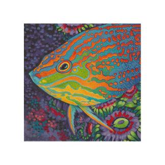 Briljante Tropische Vissen I Hout Afdruk