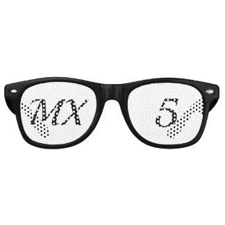 Brillen van feest MX5