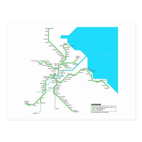 Brisbane subway briefkaart