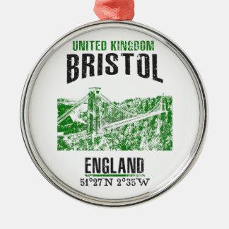 Bristol Zilverkleurig Rond Ornament