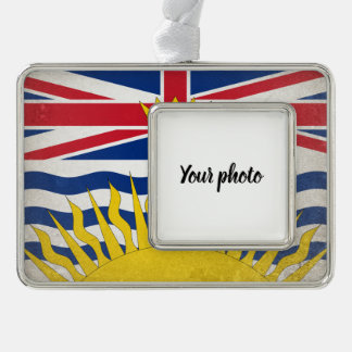 Brits Colombia Verzilverd Omlijst Ornament