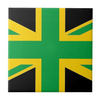 Brits - Jamaicaans Union Jack Tegeltje Vierkant Small