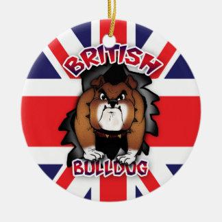 Britse Buldog - Union Jack - Ornament