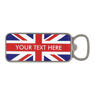 Britse de vlag magnetische flesopener van Union