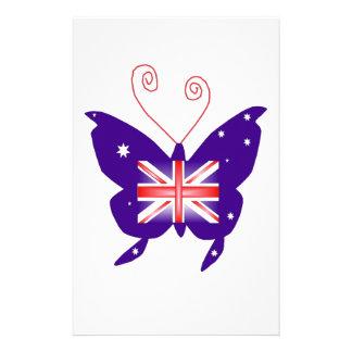 Britse Diva Vlinder Briefpapier Ontwerp
