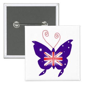 Britse Diva Vlinder Button