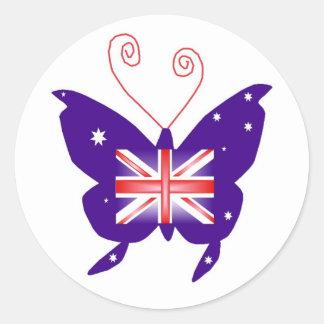 Britse Diva Vlinder Ronde Sticker