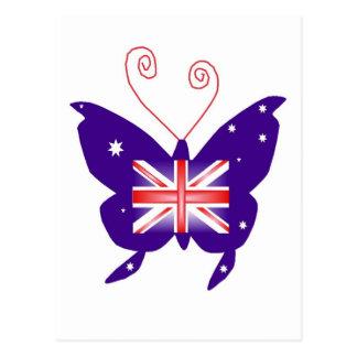Britse Diva Vlinder Wens Kaart