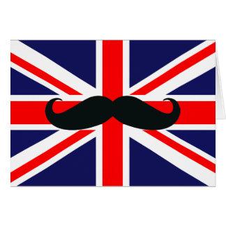 Britse Groot-Brittannië Vlag met de Kerstkaart van Kaart