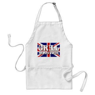 Britse hoofdBBQ van de vlagGrill schort voor man