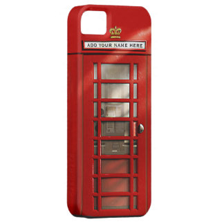 Britse Rode Gepersonaliseerde Telefooncel Barely There iPhone 5 Hoesje