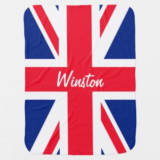 Britse Union Jack Britse Gepersonaliseerde Vlag Inbakerdoek