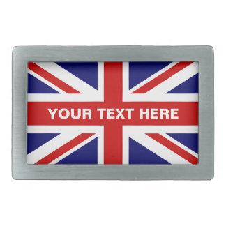 Britse van de de vlagriem van Union Jack gesp  