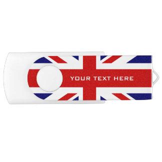 Britse van de de vlagwartel van Union Jack de Swivel USB 2.0 Stick