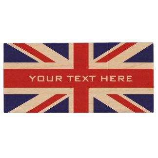 Britse van de vlagUSB van Union Jack pendrive de Houten USB Stick