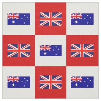 Britse Vlag, de Vlag van Australië op Rood & Wit Stof