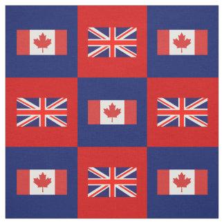 Britse Vlag, de Vlag van Canada op Rood & Stof
