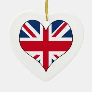 Britse Vlag Keramisch Hart Ornament