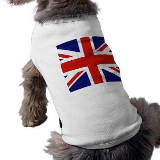 Britse vlag mouwloos hondenshirt