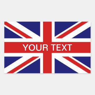 Britse vlagstickers | personalizable Union Jack Rechthoekige Sticker