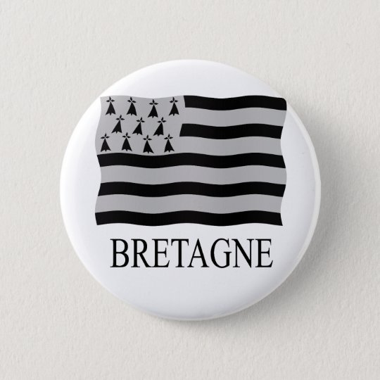 Brittany flag ronde button 5,7 cm
