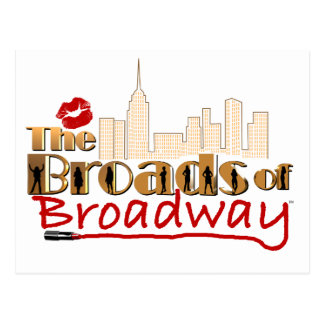BROADS van BROADWAY Briefkaart
