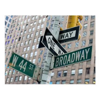 Broadway & vierenveertigste - het Briefkaart van