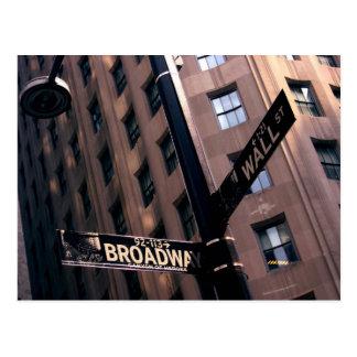 Broadway/Wall Street Briefkaart