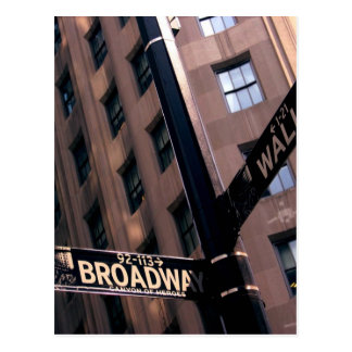Broadway/Wall Street Briefkaart