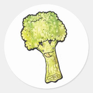 broccoli ronde sticker