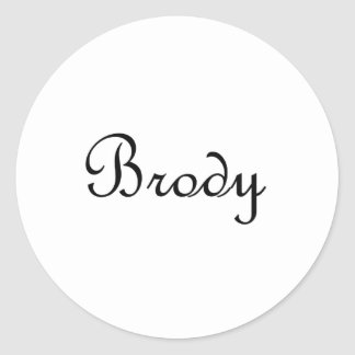 Brody Ronde Stickers