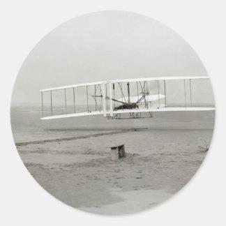 Broers van Wright van de Vlucht van het Vliegtuig Ronde Stickers