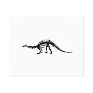 brontosaurus skelet canvas print