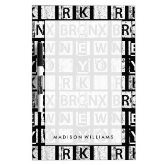 Bronx New York | Typografie Grunge Whiteboard