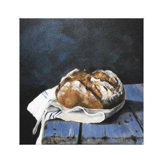 Brood op de Teller van de Keuken Canvas Afdruk