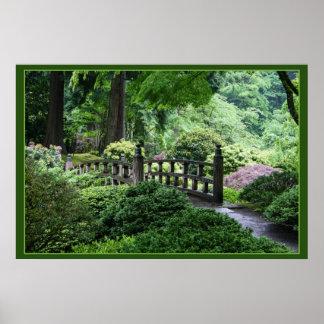 Brug - de Japanse Tuin van Portland Poster